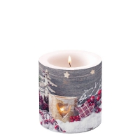 Decorative candle small -  Birch Candlelight