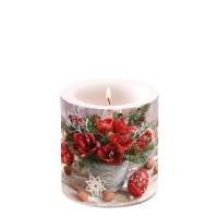 Decorative candle small -  Amaryllis Bouquet