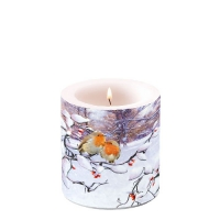 Decorative candle small -  Robins On Branch