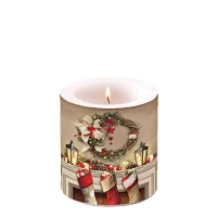 Decorative candle small -  Wreath An Socks