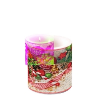 Decorative candle small -  Merry Little Christmas