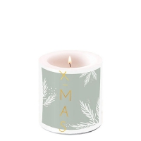 Decorative candle small - X-Mas Green