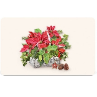 Breakfast Tray - Poinsettia In Basket