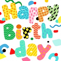 Servietten 33x33 cm - Birthday Fun