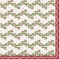 Servietten 33x33 cm - Happy Holly