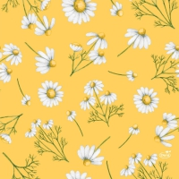 Servietten 33x33 cm - Pretty Daisy Yellow