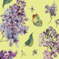 Napkins 33x33 cm - Sweet Butterfly Lime