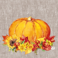 Servietten 33x33 cm - Autumn Pumpkin
