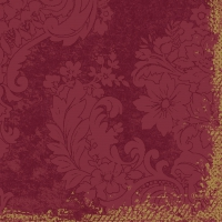 Zelltuch Servietten 33x33 cm - Royal bordeaux