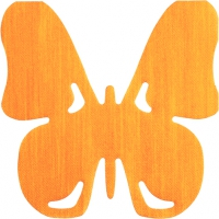 Gestanzte Servietten - SV Butterfly orange