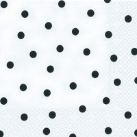 Cocktail Servietten Modern Dots black
