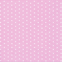 Servietten 25x25 cm - Mini Dots rose