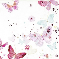 Servietten 25x25 cm - Lovely Butterflies