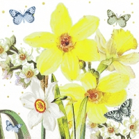 Servietten 25x25 cm - Watercolor Narcissus