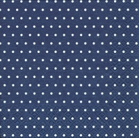 Servietten 25x25 cm - Mini Dots dark blue