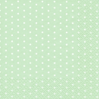 Lunch Servietten Mini Dots pastel green
