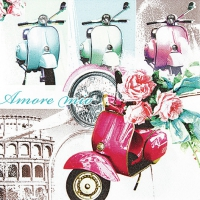 Lunch Servietten Vespa di Roma