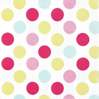 Lunch Servietten Maxi Dots pastel
