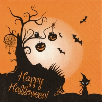 Servietten 33x33 cm - 2 in1 Halloween Halloween