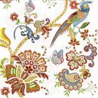 Lunch Servietten Embroidery Flowers