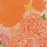 Servietten 33x33 cm - Reines und starkes Orange