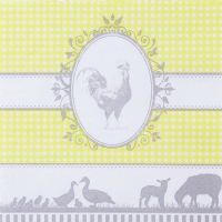 Servietten 33x33 cm - Country yellow