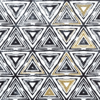 Servietten 33x33 cm - Triangles black
