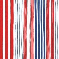 Servietten 33x33 cm - Striped red