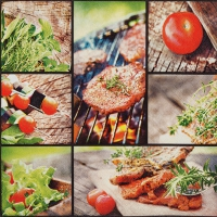 Servietten 33x33 cm - Tasty Barbecue
