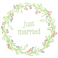 Napkins 33x33 cm - Mia: Just Married