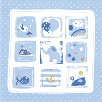 Servietten 33x33 cm - Little One blue