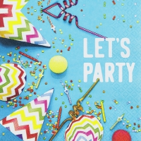 Napkins 33x33 cm - Let`s Party
