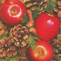 Servietten 25x25 cm - Apples with Nuts