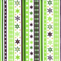 Cocktail Servietten Stripes & Stars green