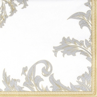 Servietten 25x25 cm - Luxury gold/silver