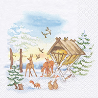 Servietten 33x33 cm - Animals in Winter