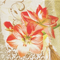 Lunch Servietten Noble Amaryllis