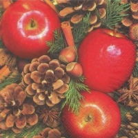 Servietten 33x33 cm - Apples with Nuts