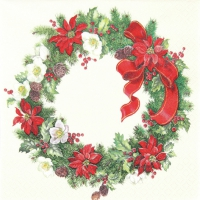 Lunch Servietten Christmas Wreath