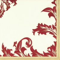 Servietten 33x33 cm - Luxury champ./bordeaux