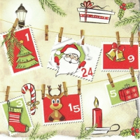 Lunch Servietten Advent Calendar