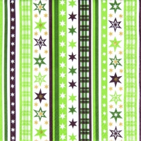 Servietten 33x33 cm - Stripes & Stars green