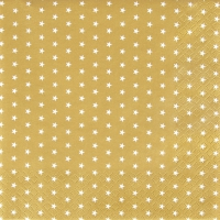Servietten 33x33 cm - Mini Stars gold