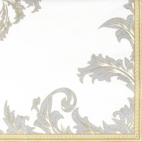 Servietten 33x33 cm - Luxury gold/silver