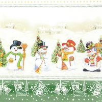 Servietten 33x33 cm - Snowman Meeting