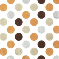 Lunch Servietten Maxi Dots copper