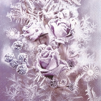 Servietten 33x33 cm - Frosted Roses