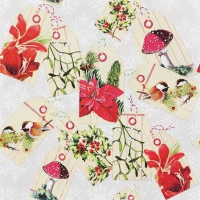 Servietten 33x33 cm - Christmas Tags