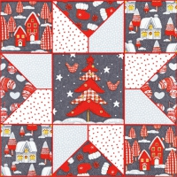 Servietten 33x33 cm - Christmas Patchwork