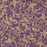 Servietten 33x33 cm - Arabesque aubergine/gold